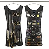 Aokbean Little Dress Jewelry Hanging Organizer Holder 39 Pockets 24 Hook and Loops, Black