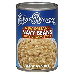 Blue Runner Orleans Spicy Cream Style Navy Beans 16-ounce Pack Of 12 by Blue Runner