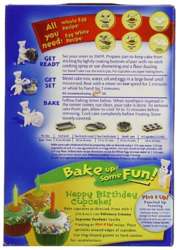 Pillsbury Cake Mix Directions On Box
