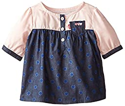 Levi\'s Baby Girls  Shirt, Pink Lace, 6-9 Months