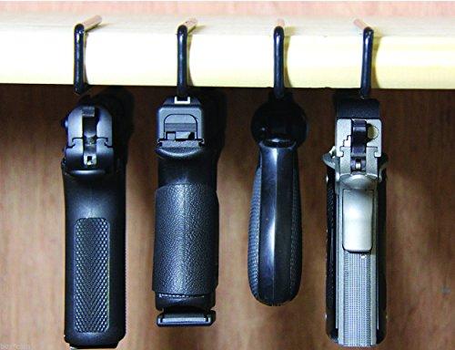 Best Prices! Safety Solutions For Gun Storage Pack of 4 Original Handgun Hangers
