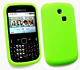 FLASH SUPERSTORE SAMSUNG CH@T 335 ( S3350 ) LCD SCREEN PROTECTOR AND SILICON CASE/COVER/SKIN LIME GREEN