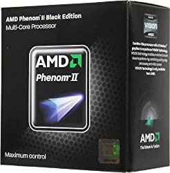 AMD Phenom II X4 960T Processor, Black Edition, 3.0/3.4 Turbo GHz Socket AM3 - HD96ZTWFGRBOX