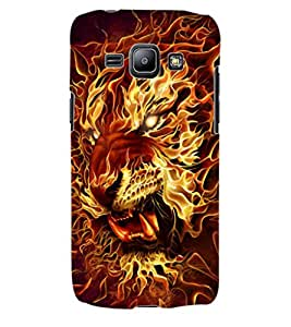 ColourCraft Flaming Tiger Design Back Case Cover for SAMSUNG GALAXY J1