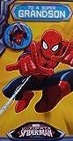 Spiderman Grandson Birhday card with badge