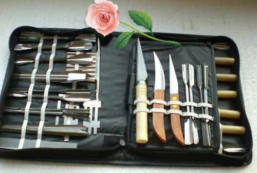 48 Piece Good Quality Food Art Fruit & Vegetable Carving Knives Engraving Knife