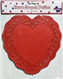 12 Large Heart Shaped Paper Doilies