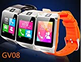 Update Gv08 Multi-function Wireless Bluetooth Smart Watch Wristwatch Support SIM Card Cell Phone Bluetooth Smartwatch for All Android Smart Moblie Phone,silver