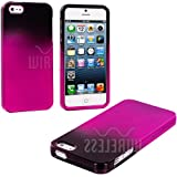 myLife (TM) Hot Pink + Black Two Tone Series (2 Piece Snap On) Hardshell Plates Case for the iPhone 5/5S (5G)... by myLife Brand Products