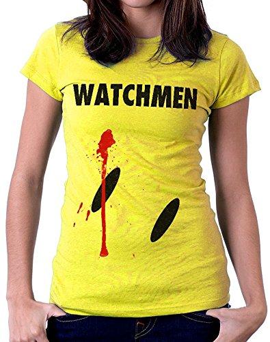 t-shirt gialla WATCHMEN S M L XL XXL uomo donna bambino maglietta by tshirteria