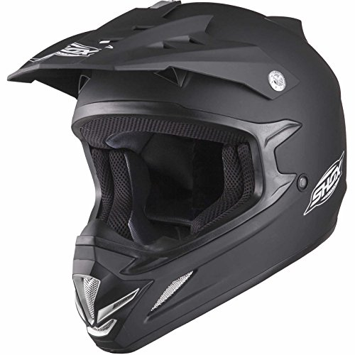 Shox MX-1 Solid Kids Motocross Helmet S Matt Black