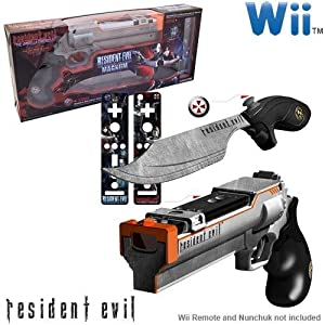 Wii Resident Evil Magnum And Knife Set