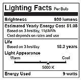 TCP LA1050KND6 LED A19 - 60 Watt Equivalent Daylight (5000K) Light Bulb - 6 Pack