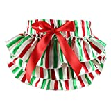 Wennikids - Braguitas bordadas - para bebé niña Green White Red Stripe