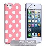 """iPhone 5 Tasche Silikon Punkte H�lle - Licht Rosavon """"Yousave Accessories�"""""""