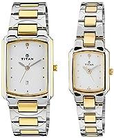 Titan Bandhan Analog White Dial Couple's Watch - NE19552955BM01