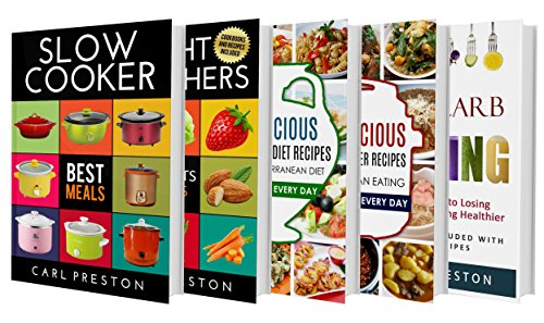 SLOW COOKER: Slow Cooker Recipes: The 5 BOOK BOX SET: Slow Cooker Cookbook, Slow Cooker Dump Dinners, Slow Cooker Freezer Meals, :WEIGHT WATCHERS, MEDITERRANEAN ... Cookbook, Slow Cooker, Slow Cooker for Two) by Katie Patterson, Mister Slow, Miss Cooker, Carl Preston
