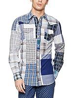 ZZ_Dolce & Gabbana Camisa Hombre (Azul)