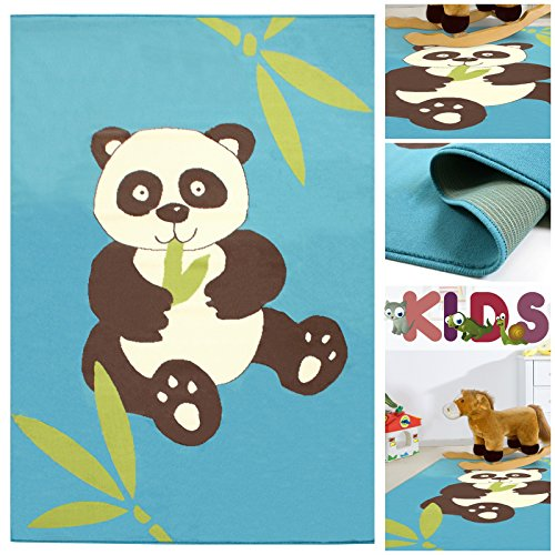 kinderteppich spielteppich mit niedlichem panda b r in. Black Bedroom Furniture Sets. Home Design Ideas