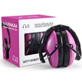 Pro For Sho 34dB NRR Noise Cancelling Shooting Ear Muffs - Special Designed Lighter Weight & Maximum Hearing Protection , Pink