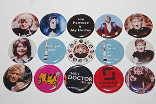 Geocache Refrigerator Magnets - Doctor Who Theme - The Third Doctor Jon Pertwee front-155169