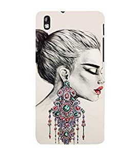 Amazing Girls Ear Rings 3D Hard Polycarbonate Designer Back Case Cover for HTC Desire 816::HTC Desire 816 G::HTC Desire 816D::HTC Desire 816G (Octa Core)