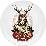 Sourpuss Lady of the Woods Traditional Tattoo Plate Platter Rockabilly