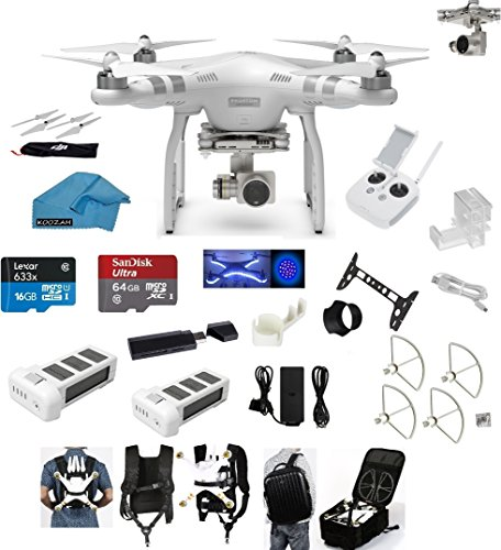 Why Choose DJI Phantom 3 Advanced Quadcopter Drone with HD Video EVERYTHING YOU NEED Kit + DJI Extra...