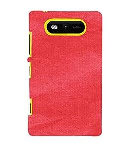 PrintVisa Red Canvas Paper Design 3D Hard Polycarbonate Designer Back Case Cover for Nokia Lumia 820