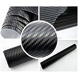 3,88€/m² 3D Carbon Folie - SCHWARZ - BLASENFREI 100 x 152 cm flexibel Car Wrapping Folie