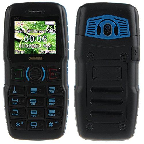 Padgene Outdoor SOS Handy Große Tasten Mobiltelefon Super Lang Standbyzeit Ohne Vertrag Blockhandy für Alter Senior mit Taschenlampe Kamera (B30-Blau)