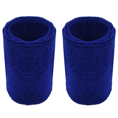 PZLE Basketball Sweatbands Sweat Bands Royal Blue Wristbands Wrist Band Sweat Wrist Sweat Band Available in Many Colors Royal Blue (Light Blue Basketball Jersey compare prices)