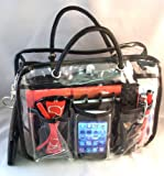"""2-6 Days Delivery- Charlie Clear Handbag Purse Cosmetic Make-Up Tote Travel Bag Organizer Insert Dimensions:LARGE- L 10"""" x H 8"""" x W 4"""" SMALL- 7""""L x 5""""H x 4.5""""W"""