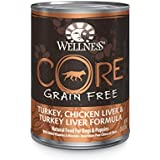 Wellness CORE Natural Grain Free Wet Canned Dog Food, Turkey, Chicken & Turkey Liver Recipe, 12.5-Ounce (Pack of 12)