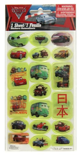 Stickerfitti Cars 2 Lenticular Stickers - 1