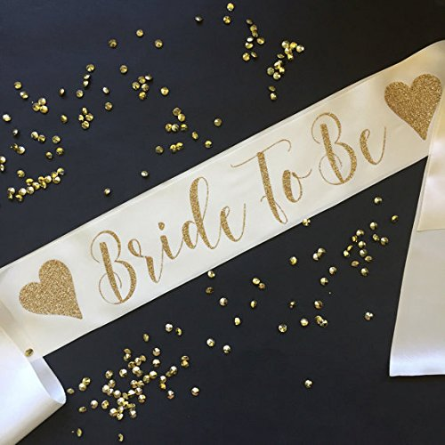 Bride to Be Bachelorette Party Sash with Hearts (Custom Bride To Be Sash compare prices)