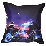 MeSleep Digital Print Bike And Car Cushion Cover - Purple