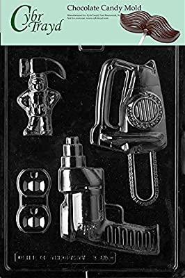 Cybrtrayd D085 Power Tools for Specialty Box Chocolate Candy Mold with Exclusive Cybrtrayd Copyrighted Chocolate Molding Instructions