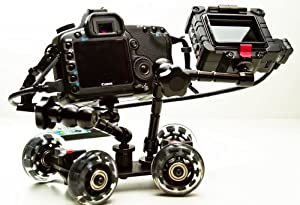 ePhotoInc PICOKIT Pico Flex Dolly Kit Digital DSLR Skater Camera Dolly Slider Table Top Dolly Kit by