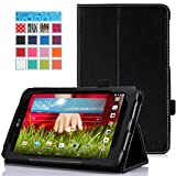 "MoKo LG G Pad 7.0 Case - Slim Folding Cover Case for LG G Pad V400 7"" inch Android Tablet, BLACK (With Smart Cover Auto Wake / Sleep)"