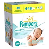 Image of Pampers Sensitive Wipes 7x Box 448 Count