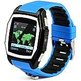 Kingwear GPS Tracker R2 Sport Smart Watch Phone For IPhone 5s 6 - Blue Black Blue-black