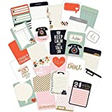 Pink Paislee Switchboard Pocket Cards for Scrapbooking, 3 by 4-Inch