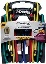Master Lock Tendeur Set rangement 10 pièces Crochet Inverse Vert/Jaune/Rouge/Bleu 25 x 45 x 60 x 80 x 100 cm