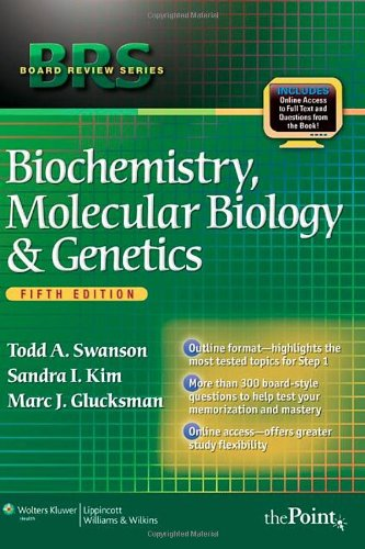 Brs Biochemistry, Molecular Biology, And Genetics, Fifth Edition (Board Review Series) front-837485