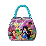 Tinkerbell Fairies Purse Shaped Tin Lunch Box with Beaded Handle & Clasp
