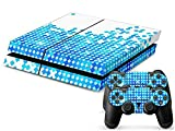 Mod Freakz Ps4 Console And Controller Vinyl Skin Decal Blue White Diamonds