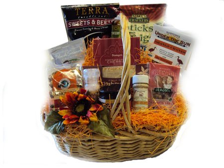 Deluxe Healthy Thanksgiving Gift Basket