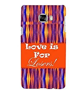PrintVisa Quotes & Messages Romantic Love Colorful 3D Hard Polycarbonate Designer Back Case Cover for Samsung C7