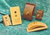 1 Pair Walnut Wood Quilt Hang-Ups Clamps Clips - Large